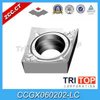 Original ZCC.CT turning cutters YD101/CCGX060202-LC (10pcs/Lot) PVD Coating 10pcs/box turning Insert
