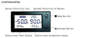 Image 2 - אולם דיגיטלי מד DC 0 ~ 300V 50A 100A 200A 400A /999AH/999KW/999KWH Coulometer סוללה בוחן עופרת חומצה/ליתיום סוללות