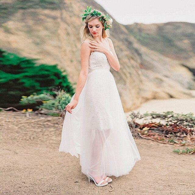 afa52e2953e992 Sheer 2 Layers Tulle Skirts Womens Long Tutu Skirt See Through Floor Length  Bridal Overskirt Cheap Wedding Party Skirt Custom