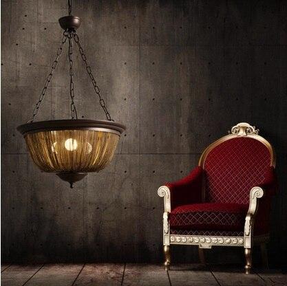 цена Vintage creative Iron tassel American luxurious pendant light for Villaggio Boutique Hotel Club living room,E27*3 bulb included онлайн в 2017 году