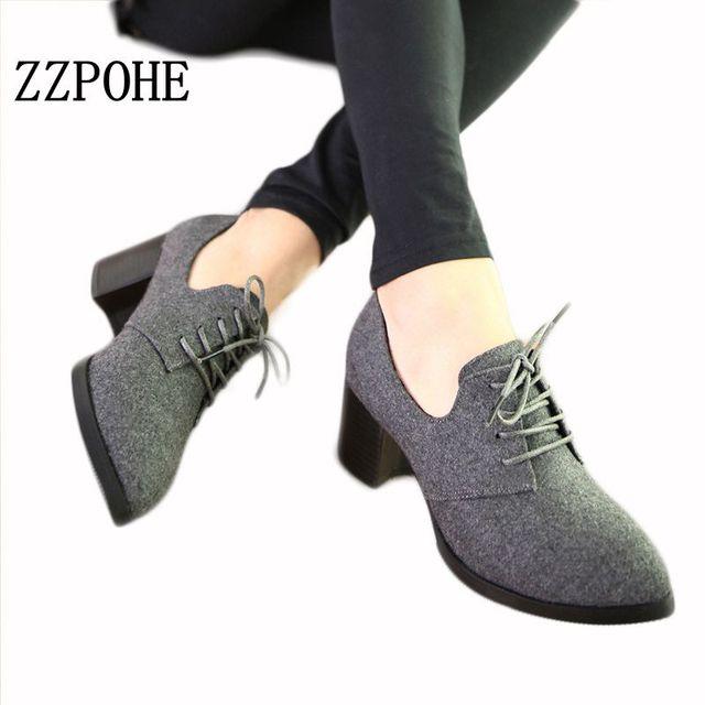 ee36d9e813 ZZPOHE nuevos zapatos de primavera para mujer elegantes cómodos zapatos de tacón  alto de encaje retro