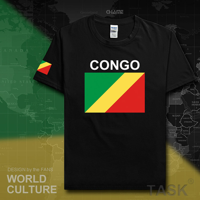 Congo Republic men t shirt jerseys nation tshirt team cotton t-shirt gyms clothing tees country flag sporting COG Congolese