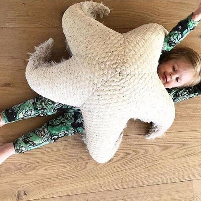 Nouveau étoile de mer jouet grande étoile oreiller coussin enfants salon oreiller bébé poupée oreiller enfants chambre décoration en peluche poupée