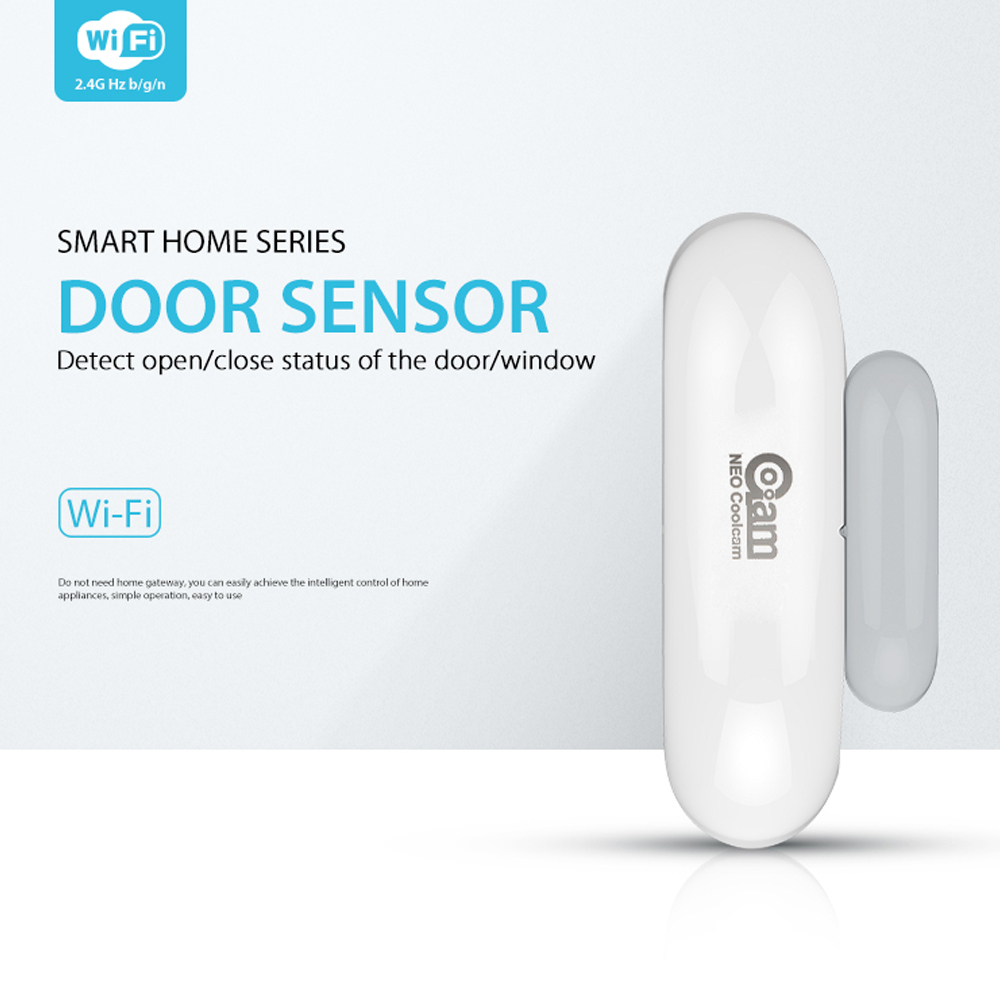 NEO COOLCAM NAS-DS01W Wifi Door Window Sensor,App Notification Alerts,No Expensive Hub Required