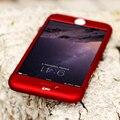 Para iphone 7 6 6 s plus 360 grado cubierta case para iphone 6 6 s 7 case protector claro delantero de la película de vidrio cubierta de oro para el iphone 6 6 plus coque