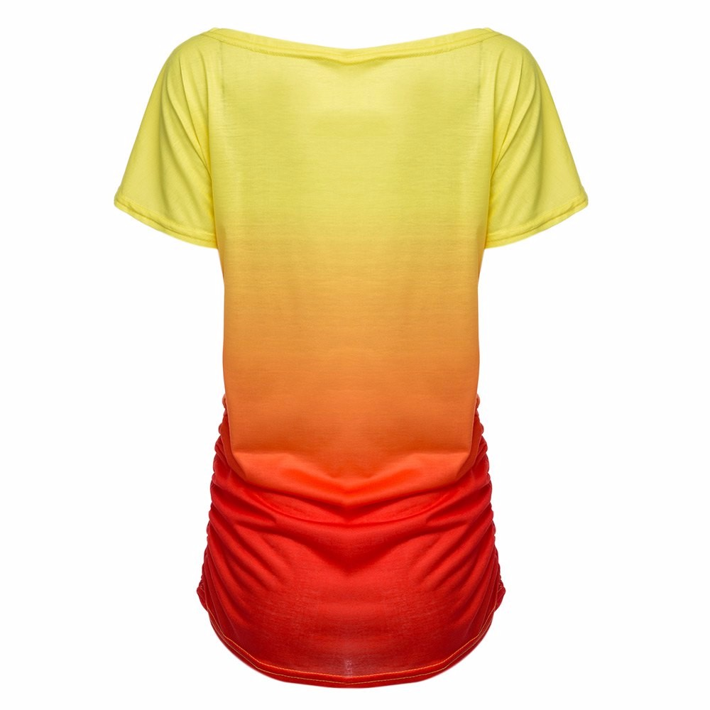 HTB1cpKPKVXXXXcpXFXXq6xXFXXXs - Women Tops Dye Print Tee Shirts Short Sleeve Gradient Color Casual