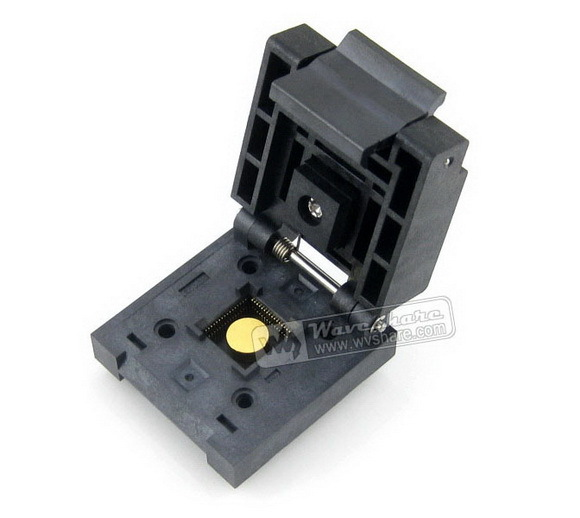 Parts Free Shipping QFN-64BT-0.5-01 Enplas IC Burn-in Test Socket Adapter 0.5mm Pitch QFN64 MLP64 MLF64 Package free shipping 10pcs lot tps51218 51218 tps51218dscr pizi qfn package computer chips 100