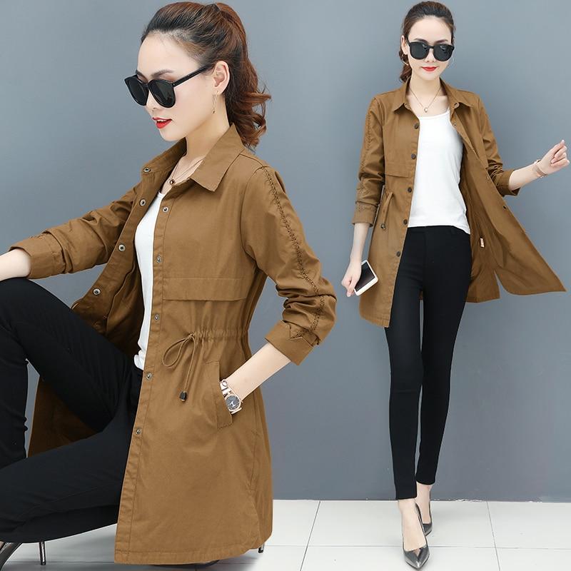 Windbreaker Coat Ladies Clothing Spring Youth Fashion Large-Size Outerwear New Wild 2269