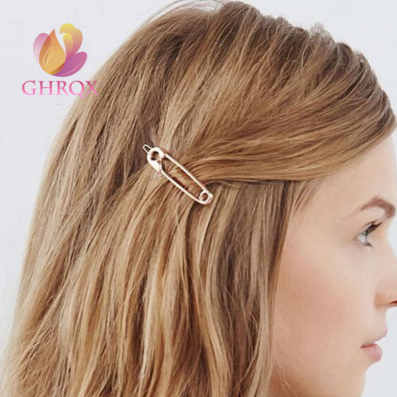 M MISM New Wholesale Women's Brooch Pin Hair Clips Girls Hairpins Barrettes Headwear Fashion Party Hair Accessories Gold/Silver