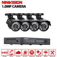 CCTV System 4CH 720P Outdoor Security Camera 4CH 1080N P2P DVR HVR Onvif NVR Surveillance