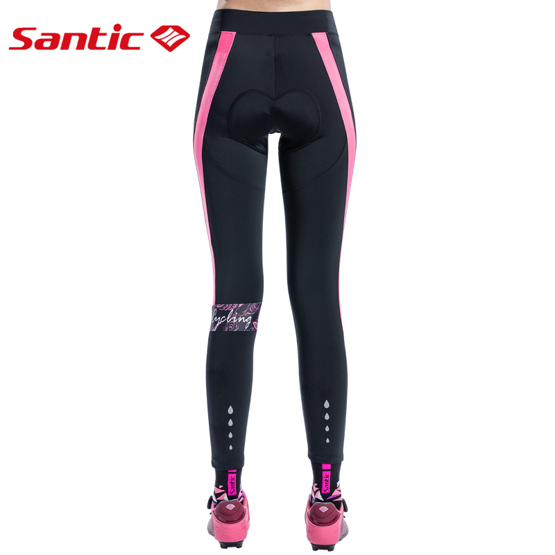 Santic Women Print Cushion MTB Cycling Pants Pro Fit 4D Padding Breathable MTB Pants Bike Bicycle Quick Dry Reflective Pants in Cycling Pants from Sports Entertainment