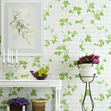 Vintage Green Leaves Wallpaper Bedroom Living Room TV Sofa Background Imitation Tree Rroll