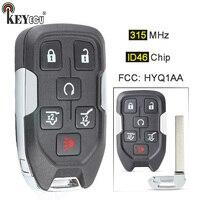 KEYECU 315MHz FCC: HYQ1AA Smart 5+1 6 Button Remote Car Key Fob for GMC YUKON 2015 2016 2017 2018 13580802, 5922084, 22984995