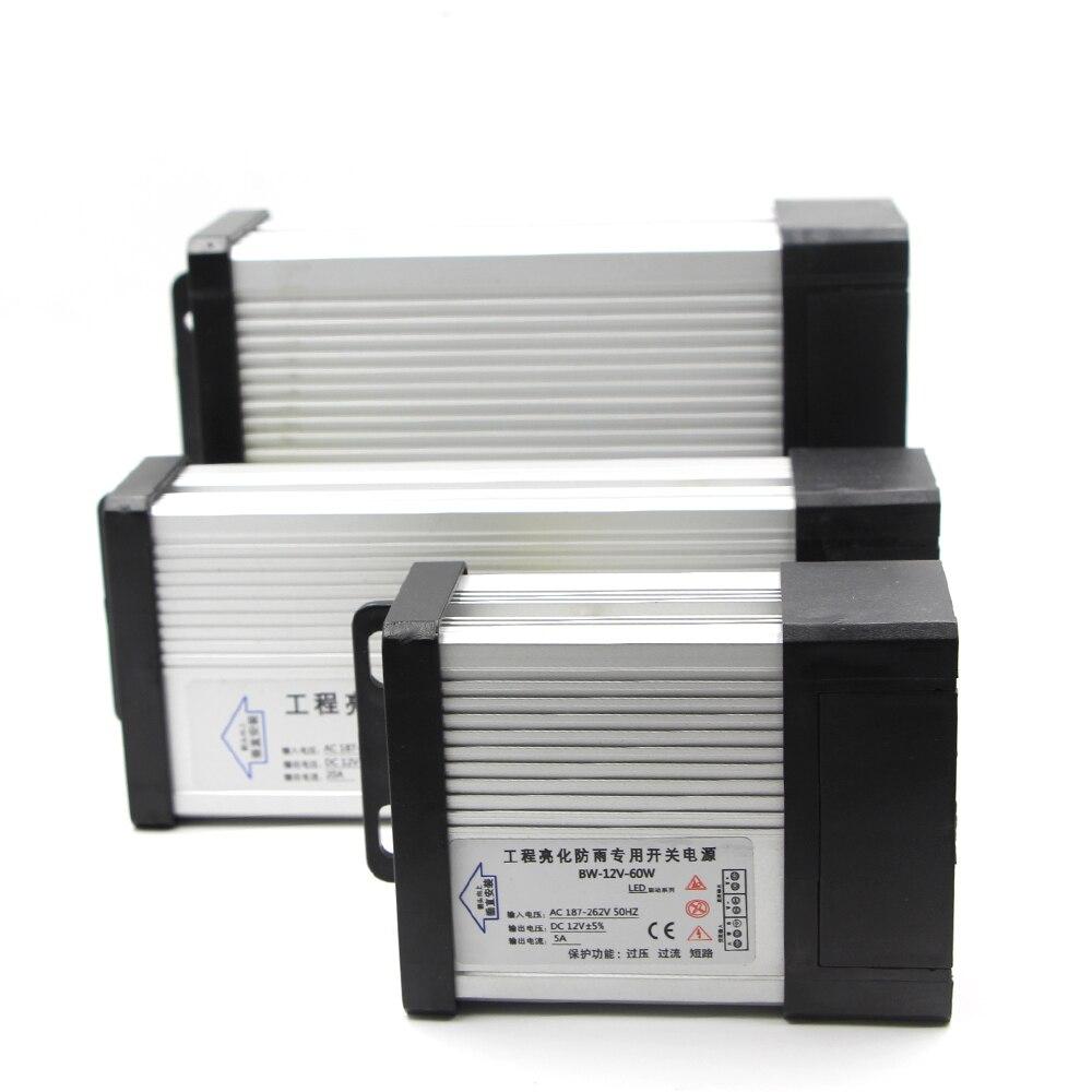 LED Outdoor Rainproof Power Supply Adapter AC 220V 240V to DC 12V 24V 60W 100W 200W 250W 400W LED Driver Lighting Transformers lc 12 250w 20 8a rainproof switching power supply silvery grey 175 240v