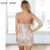 2016 Novo Vestido de Verão Sexy Clube Strap Mangas Lantejoula Geométrica Magro Mini Bodycon Vestidos Bandage Partido Vestdios