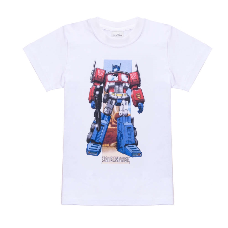 17 Boys Fashion Tops Cotton short sleeve children t shirts cute cartoon game boys figure kids wear summer Robot Optimus Prime 4