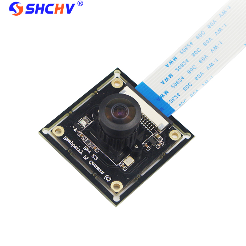 Raspberry Pi 3 B+ Camera Module OV5647 Fish Eyes Wide Angle Camera Focal Adjustable for Doorbell Monitoring Camera Module DIY
