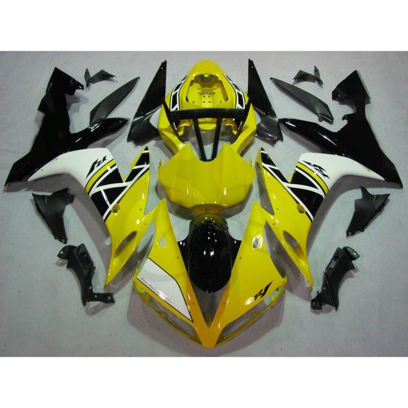 Прессформа впрыски обтекатель кузова набор подходит для YAMAHA YZF Р1 04-06 05 желтый белый