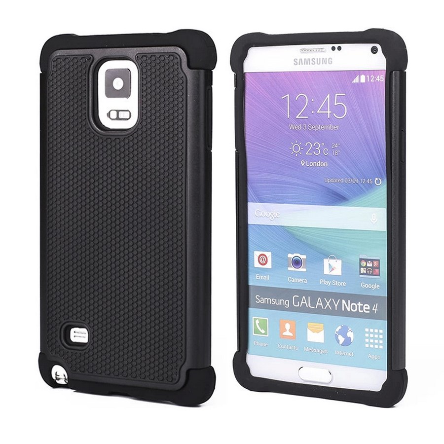 For Samsung Note 4 Case Armor 3D Hybrid Shockproof Luxury Phone Case for Samsung Galaxy Note 4
