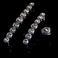 96mm 128mm Modern Fashion Rhinestone Furniture Handle Silver Chrome Dresser Cabinet Door Handle Knob Glass Crystal