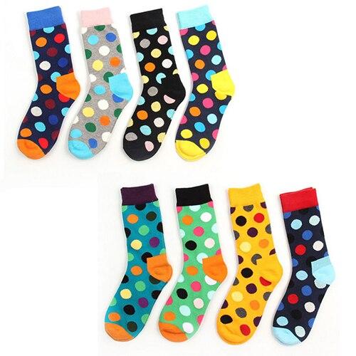Classic Women Men Colorful Polka Dot Winter Soft Warm Casual School Socks