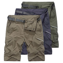 Mens Shorts Men Summer Casual Breathable Quick Dry Short Military Style Khaki Cargo For Man Travel AM385