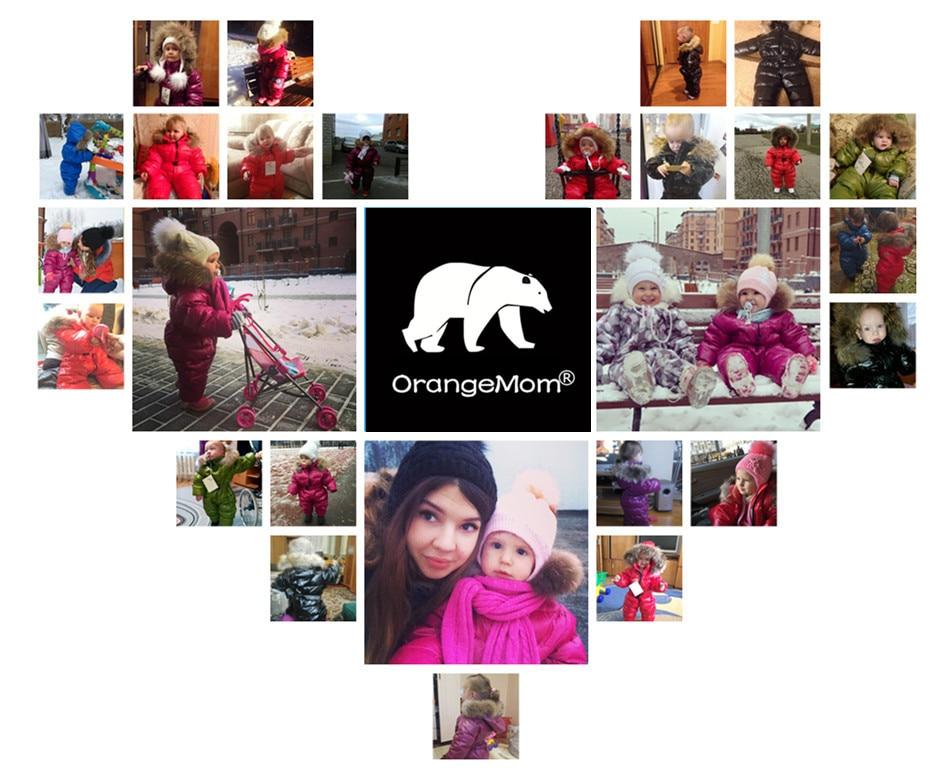 Image 4 - Детский комбинезон Orangemom, теплая зимняя парка для мальчиков или девочек, верхняя одежда для детей-in Песочники для малышек from Мать и ребенок