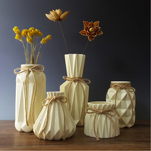 Buy wedding decoration vase and get free shipping on aliexpress fashion origami vases ceramic tabletop vase home decoration vase european style dried flower vase household wedding junglespirit Image collections