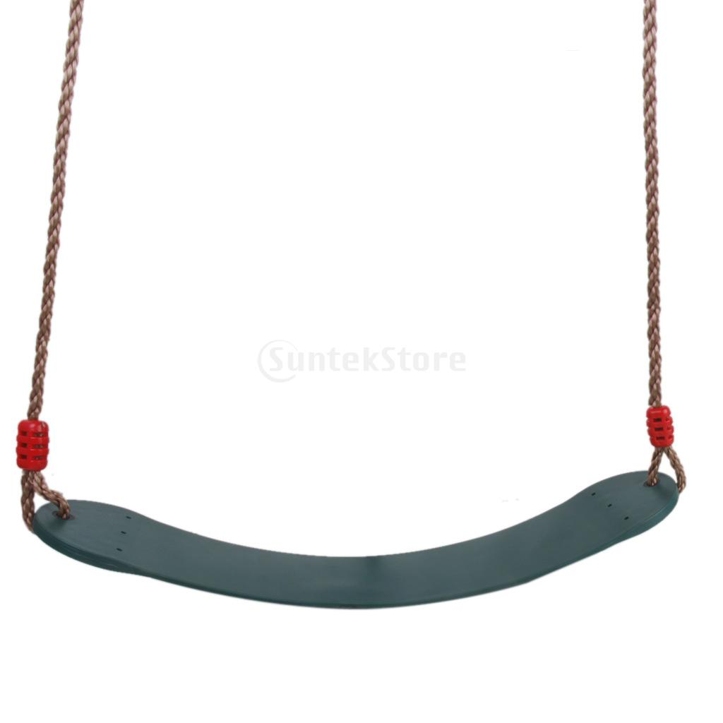 ФОТО  Outdoor Swing Set Seat with Rope Dark Green