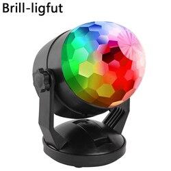 Luzes de festa de discoteca ativadas som portátil alimentado por bateria/usb plug in rgb lâmpada estroboscópica fase par luz para a sala de carro dança festa
