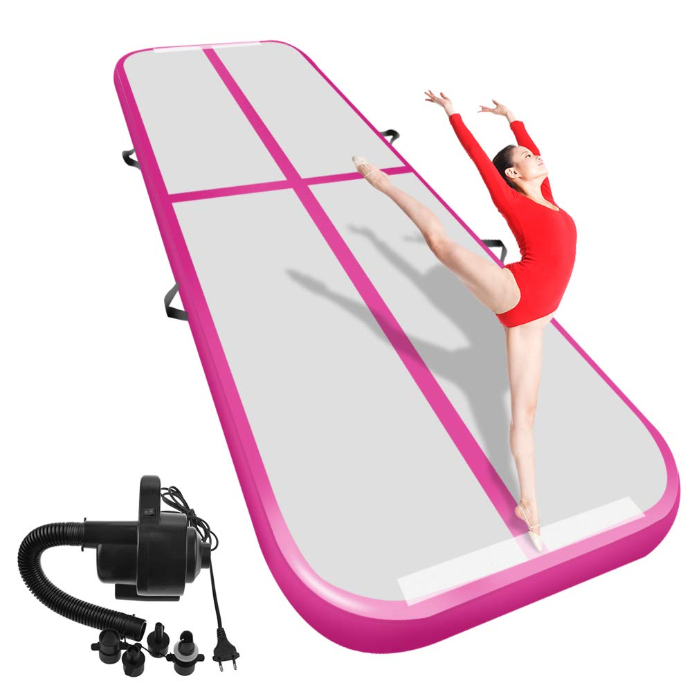 Envío Gratis 3M4M5M trampolín inflable de pista de aire de pista de gimnasia para uso doméstico/entrenamiento/animadora/playa