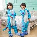 Winter Autumn Pajamas Cos Blue University Sullivan Costume Children Unisex Girl Boy Cosplay Animal Onesie For Kids Easy-Toilet