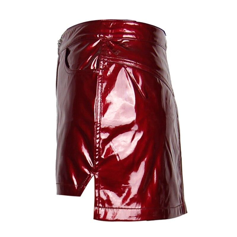 Rouge Mini Red Sheathy Sexy Décoration Cuir Filles Solide D'été Punk Avec Fermeture Femmes Jupes Jupe Éclair Courte En T7SwStpq