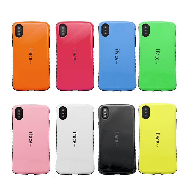 iFace Mall Heavy Duty Case for Apple iPhone X Shockproof Candy Color Back Cover Hard Shell Full Protection for iPhone Ten Bag