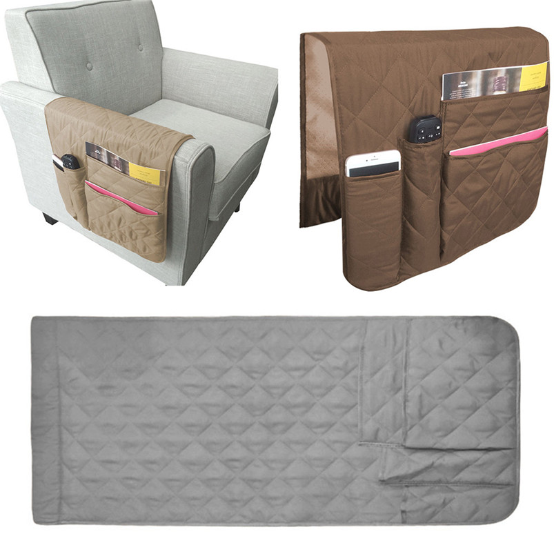 Armrest Organizer Storage Waterproof Armchair Caddy Couch Pocket Remotes Holder