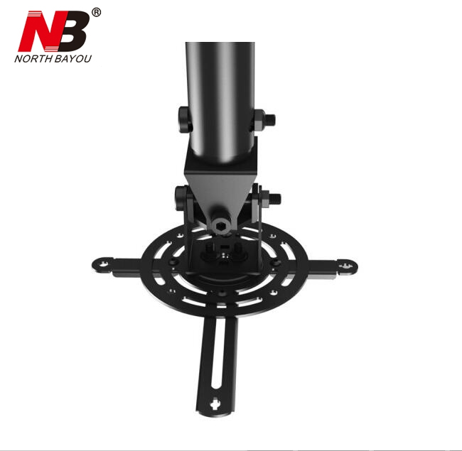 NBT718 2 Retractable Projector Hanger Ceiling Projector Rack Full Motion Projector Mount 530 830mm Black White in TV Mount from Consumer Electronics