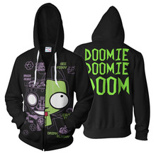3D Print Anime Invader Zim Hoodie Sweatshirt Cosplay Costume Jacket Coats Men and Women New