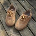 Натуральная кожа Мальчиков и Девочек Кроссовки замши на шнуровке Дети Оксфорд Shoes Kids casual shoes Бесплатная доставка