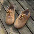 Niños y niñas zapatillas de deporte de cuero de gamuza de cuero genuino con cordones de los niños oxford shoes kids casual shoes envío gratis