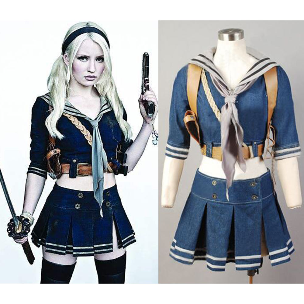 sucker punch cosplay baby doll costume jacket scarf sailor dress