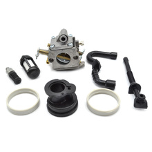 Chainsaw ZAMA Carburetor Fuel Oil Filters Oil Hose Pipes and Manifold Ring Set fit Stihl MS180 170 017 018 ms180 chainsaw coil ignition module with terminal socket and zama carburetor carbs with gasket repair kits for stihl 017 018 ms1