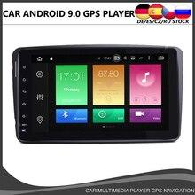 Octa núcleo android 10.0 carro dvd jogador gps para mercedes benz w209 w203 m/ml w163 viano w639 vito raido estéreo bt 4 + 32gb wifi dab +