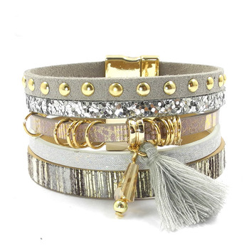 Layered-Multi-Texture-Leather-Charm-Bracelets-with-a-Bohemian-Flare-3