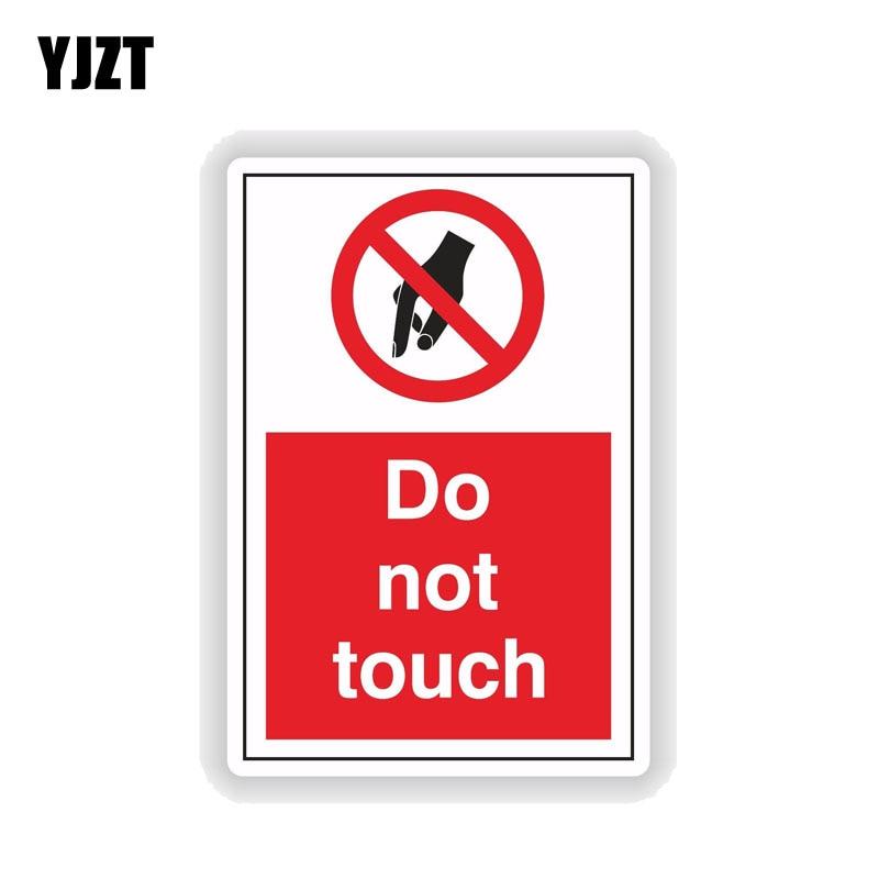 Yjzt 8.2 cm * 12.7 cm não toque aviso decorar carro adesivo engraçado pvc decalque 12-0917