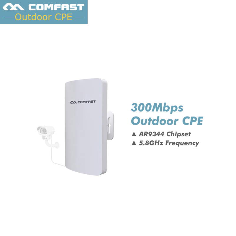 COMFAST CF-E120A Wireless outdoor router 300Mbps 802.11AC 5.8G WIFI Repeater 24V POE power 16 Flash WiFi Access Point CPE bridge outdoor cpe 5 8g wifi router 200mw 1 3km 300mbps wireless access point cpe wifi router with 48v poe adapter wifi bridge cf e312a