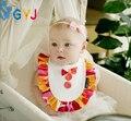 Infantil del bebé baberos al por mayor marca de moda de algodón Orgánico niños baberos lot kawaii chica baberos bandana de impresión bebé baberos y paños para el eructo paños