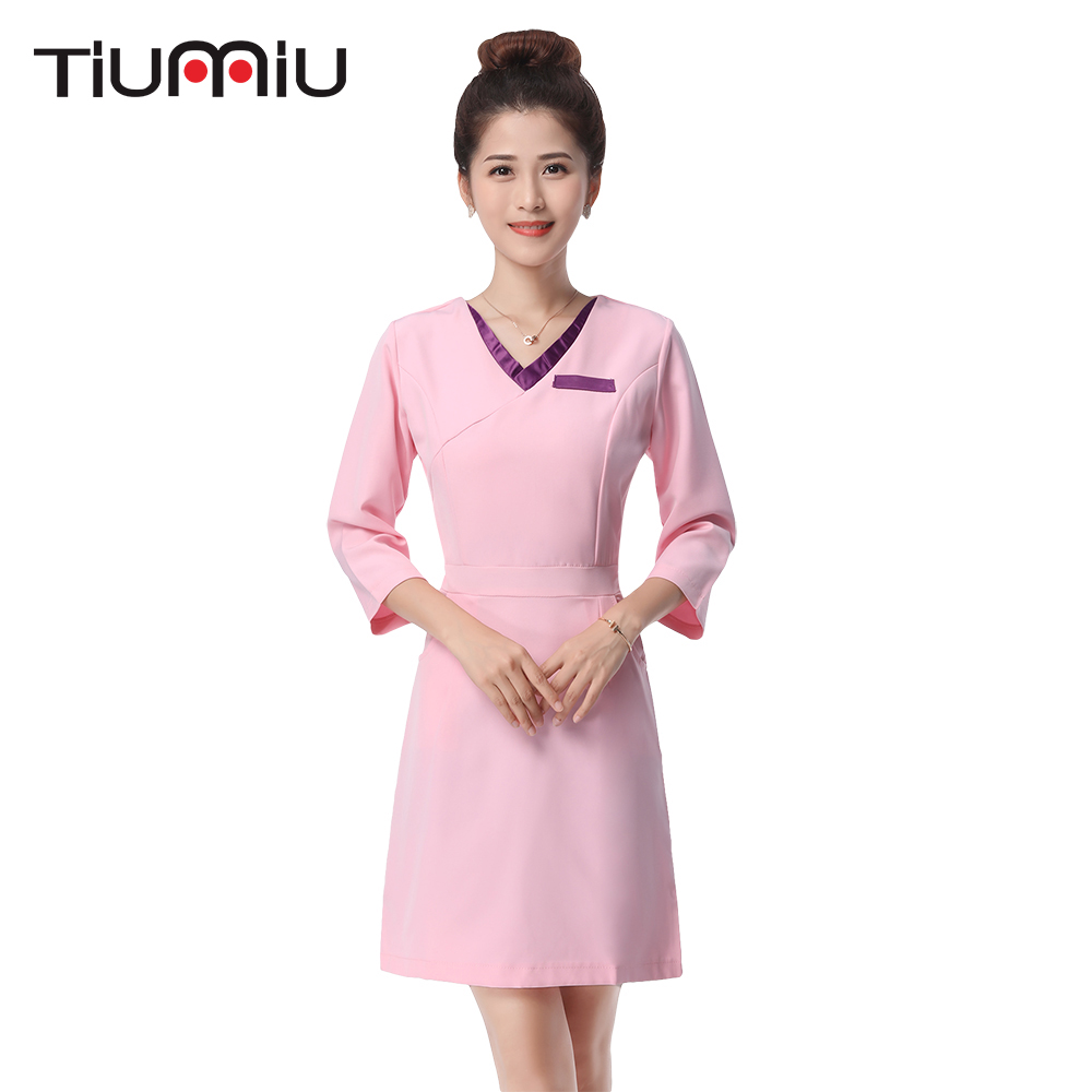 2018 Hot New Arrival Lab Dress Women Long Sleeved Medical Uniform Attire Beauty Salon SPA Fashion Hotel Waiter Workwear Clothing