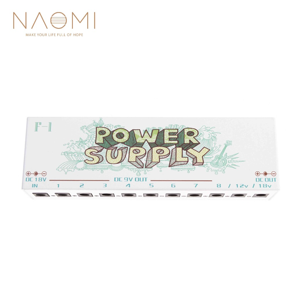 NAOMI F 1 Pedal Power Isolated Power Supply Guitar Effect Pedal EU PLUG