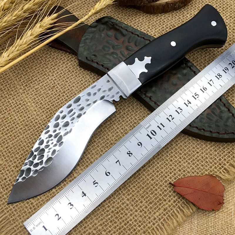 Handmade Nepal style hunting knife high hardness blade wooden handle camping knife small Kukri survival tools