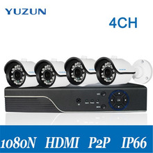 Wireless Security Camera System 4CH CCTV System 1080P Camera Surveillance Kit CCTV DVR Kit HDMI Waterproof IR P2P Night Vision